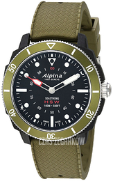 Alpina Horological Smartwatch Czarny/Guma Ø44 mm AL-282LBGR4V6
