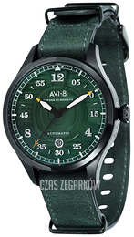 AVI-8 Hawker Hurricane Zielony/Skóra Ø43 mm AV-4046-04