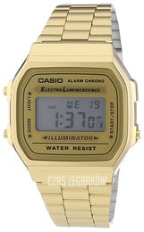 Casio Casio Collection Ekran LCD/Stal w odcieniu złota A168WG-9EF