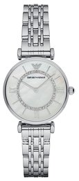 Emporio Armani Dress Biały/Stal Ø32 mm AR1908