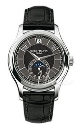Patek Philippe Complicated Annual Calender Czarny/Skóra Ø40 mm 5205G/010