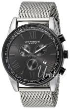 Akribos XXIV Chronograph Czarny/Stal Ø45 mm