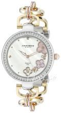 Akribos XXIV Diamond Biały/Stal w kolorze różowego złota