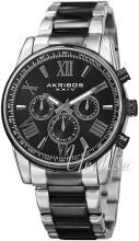 Akribos XXIV Multi-Function Czarny/Stal