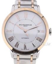 Baume & Mercier Classima Biały/Stal w kolorze różowego złota Ø36.5 mm