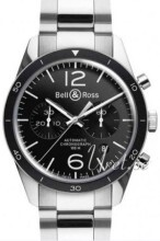 Bell & Ross BR 126 Czarny/Stal