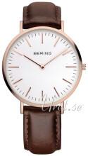 Bering Classic Biały/Skóra Ø38 mm