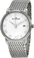 Blancpain Villeret Biały/Stal