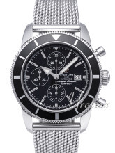 Breitling Superocean Heritage Chronograph Czarny/Stal Ø46 mm
