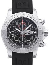 Breitling Super Avenger II Chronograph Czarny/Guma