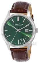Bulova Caravelle Zielony/Skóra