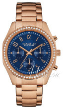 Bulova Caravelle Niebieski/Stal w kolorze różowego złota Ø36 mm