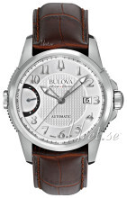 Bulova Dress Srebrny/Skóra Ø43 mm