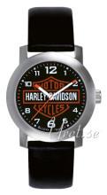Bulova Harley-Davidson Czarny/Skóra