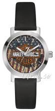 Bulova Harley-Davidson Niebieski/Skóra