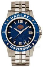 Bulova Harley-Davidson Niebieski/Stal