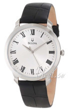 Bulova Dress Srebrny/Skóra Ø41 mm