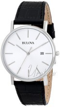 Bulova Dress Srebrny/Skóra Ø37 mm