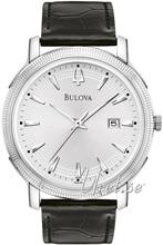 Bulova Dress Srebrny/Skóra Ø40 mm