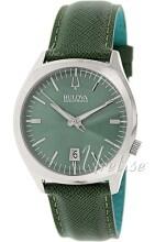 Bulova Accutron Zielony/Skóra Ø41 mm