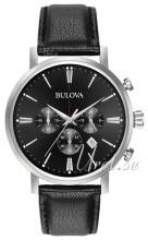 Bulova Czarny/Skóra