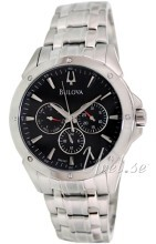 Bulova Dress Czarny/Stal Ø40 mm