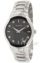 Bulova Diamond Czarny/Stal Ø39 mm