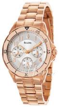 Bulova Bracelet Srebrny/Stal w kolorze różowego złota Ø35 mm
