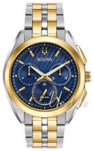 Bulova Bracelet Niebieski/Stal w odcieniu złota Ø45 mm