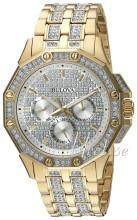 Bulova Zestaw kryształów/Stal w odcieniu złota Ø41.5 mm