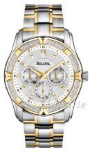 Bulova Diamond Srebrny/Stal w odcieniu złota