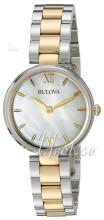 Bulova Dress Biały/Stal w odcieniu złota Ø27 mm