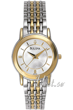 Bulova Dress Srebrny/Stal w odcieniu złota Ø27 mm