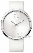 Calvin Klein Srebrny/Skóra