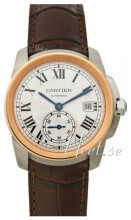 Cartier Calibre De Cartier Srebrny/Skóra Ø38 mm