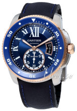 Cartier Calibre De Cartier Niebieski/Guma Ø42 mm
