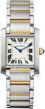 Cartier Tank Francaise Srebrny/18 karatowe żółte złoto