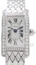 Cartier Tank Americaine Srebrny/18 karatowe białe złoto