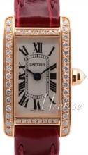 Cartier Tank Americaine Srebrny/Skóra
