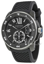 Cartier Calibre De Cartier Czarny/Guma Ø42 mm