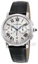 Cartier Rotonde De Cartier Srebrny/Skóra