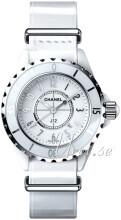 Chanel J12 Biały/Skóra Ø33 mm
