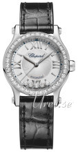 Chopard Happy Sport 30 MM Automatic Srebrny/Skóra