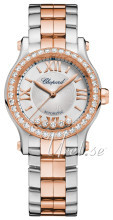 Chopard Happy Sport 30 MM Automatic Srebrny/18 karatowe różowe z