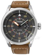 Citizen Leather Szary/Skóra