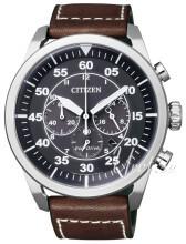 Citizen Czarny/Skóra Ø45 mm