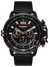 Diesel Chronograph Czarny/Skóra