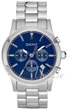 DKNY Chronograph Niebieski/Stal