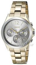 DKNY Chronograph Srebrny/Stal w odcieniu złota Ø37 mm