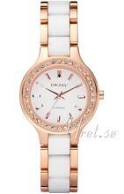 DKNY Biały/Stal w kolorze różowego złota